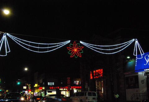 Holiday Banners Adorn the BID