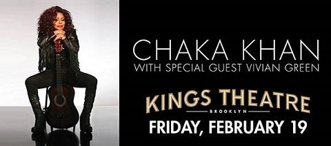 Win 2 Tickets to see Chaka Khan with Special Guest Vivian Green