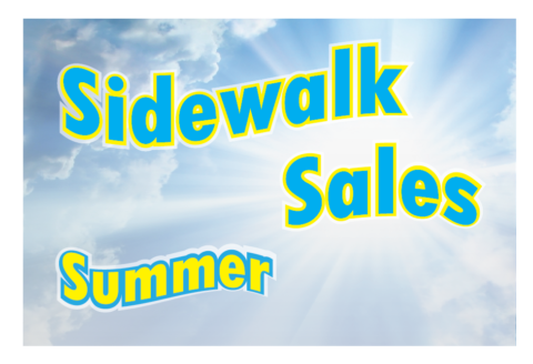 Sidewalk Sales Fri. Aug. 25th to Sun. Aug 27th